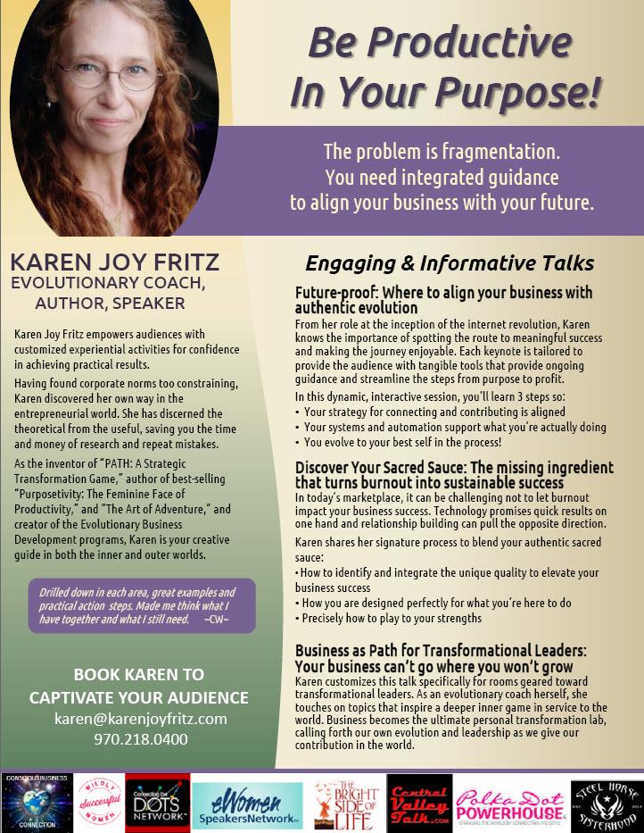 Karen Fritz Speaker Onesheet